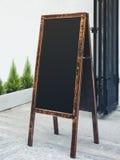 Menu da loja do restaurante do quadro de madeira do quadro do suporte do quadro indicador Imagens de Stock