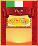 Menu da pizza Imagem de Stock Royalty Free