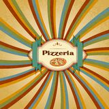 Menu da pizza Foto de Stock Royalty Free