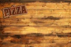 Menu da pizza ilustração stock