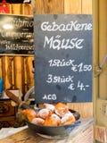 Menu da placa para doces tradicionais austríacos Imagem de Stock Royalty Free