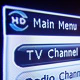 Menu da televisão de HD Digitas Imagens de Stock Royalty Free