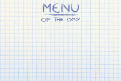 Menu of the day background. Background image with Menu of the Day writing Royalty Free Stock Photos