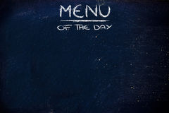 Menu of the day background Stock Photography