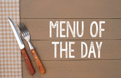 Menu of the day Royalty Free Stock Photography