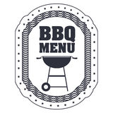 menu de BBQ et conception de grill Illustration Libre de Droits
