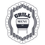 menu de BBQ et conception de grill Images libres de droits