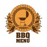 menu de BBQ et conception de grill Images stock