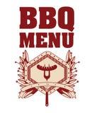 menu de BBQ et conception de grill Photo libre de droits