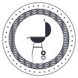 menu de BBQ et conception de grill illustration stock