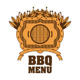 menu de BBQ et conception de grill Photos stock
