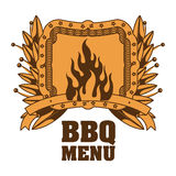 menu de BBQ et conception de grill Photos libres de droits