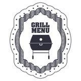 menu de BBQ et conception de grill Images stock