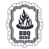 menu de BBQ et conception de grill Photographie stock