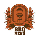 menu de BBQ et conception de grill Photo libre de droits