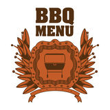 menu de BBQ et conception de grill Image stock