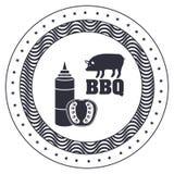 menu de BBQ et conception de grill illustration libre de droits