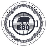 menu de BBQ et conception de grill Image libre de droits