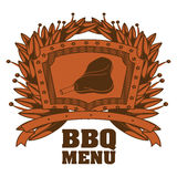 menu de BBQ et conception de grill Photo stock
