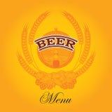 Menu de bière illustration libre de droits