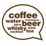Menu de boisson images stock