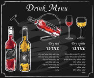 Menu de boissons illustration libre de droits