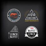 Menu de buffet, conception de restaurant Tous que vous pouvez manger Vecteur avec le grap Photographie stock libre de droits