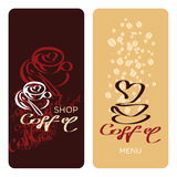 Menu de café Image stock