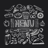 Menu de café de restaurant image stock