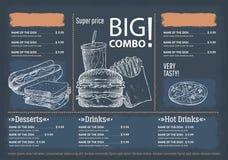 Menu de café de restaurant illustration libre de droits