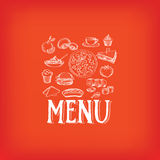 Menu de café de restaurant, conception de calibre Illustration de vecteur Photos stock