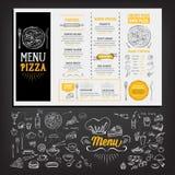Menu de café de restaurant, conception de calibre Insecte de nourriture Photographie stock libre de droits