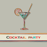 Menu de cocktail Images stock