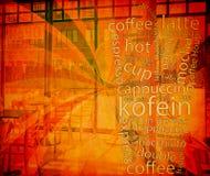 Menu de Coffe Fotografia de Stock Royalty Free