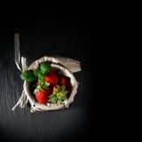 Menu de dessert Photos libres de droits