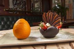 Menu de dessert Image stock