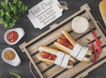Menu de hot-dogs Photo stock