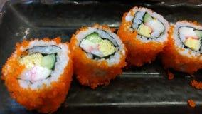 Menu de Japonais de petit pain de sushi Photo libre de droits