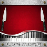 Menu de Live Music et de nourriture Image libre de droits