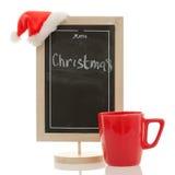 Menu de Noël d'isolement Images stock
