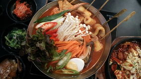 Menu de nourriture de la Corée Photo stock
