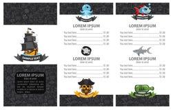 Menu de pirate Photo stock