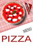 Menu de pizza Image libre de droits