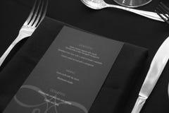 Menu de restaurant Photo stock