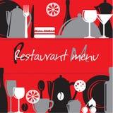 Menu de restaurant Image libre de droits