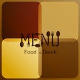 Menu de restaurant avec les lettres modifiées 3 Photos libres de droits