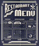 Menu de restaurant de vintage Photographie stock
