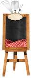Menu de restaurant - tableau noir vide sur un chevalet Photo stock