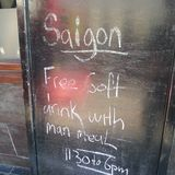 Menu de Saigon Imagens de Stock