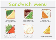 Menu de sandwich Photo stock